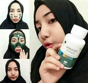Masker spirulina asli
