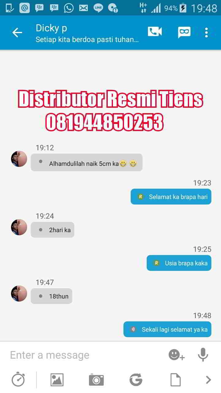 Distributor Tiens Peninggi Badan di Makassar Harga Termurah