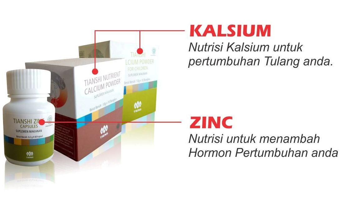 Fungsi dan Manfaat Kegunaan Paket Obat Peninggi Badan Tiens Nhcp Zinc