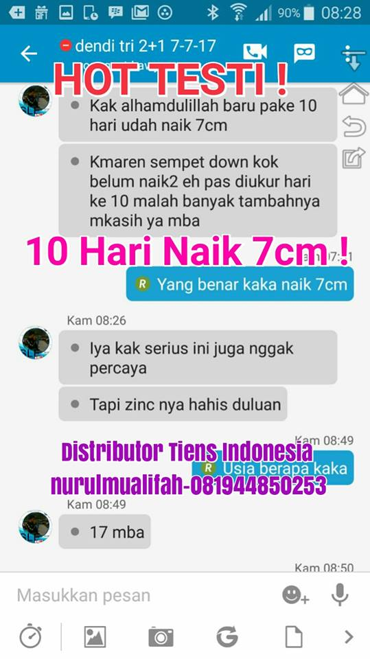 Jual Obat Peninggi Badan Tiens di Cirebon