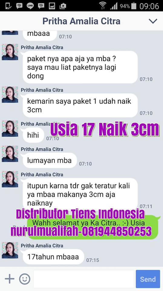 Toko Jual Obat Peninggi Badan Tiens di Palembang