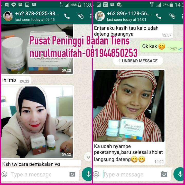 Toko Resmi Jual Obat Peninggi Badan Tiens NHCP di Palembang Harga Grosir