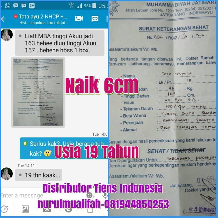 Jual Obat Peninggi Badan Tiens NHCP di Kota Padang