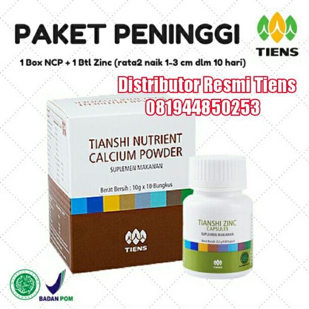Harga Promo Satu Paket Peninggi Badan Tiens 10 Hari (1 Susu NHCP+Zinc)
