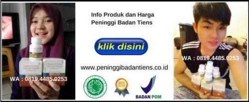 nomor BPOM dan sertifikat mui peninggi badan tiens