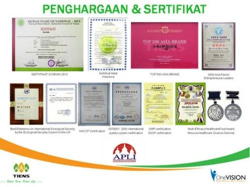 sertifikat halal obat peninggi badan tiens