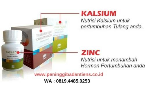 Inidia Rasa Dari Susu Kalsium NHCP dan Zinc Tiens Peninggi Badan