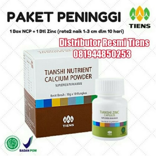 amankah produk obat peninggi badan tiens nhcp zinc bagi tubuh