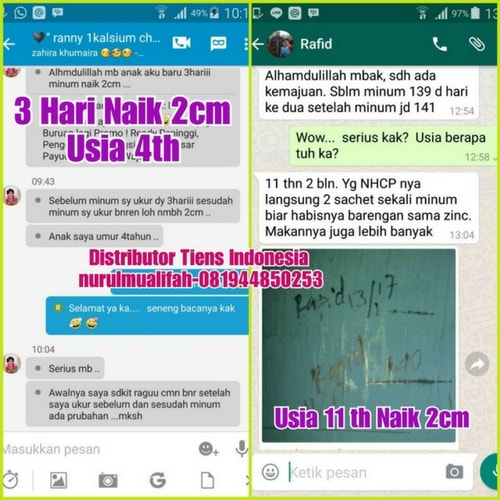 testimoni produk peninggi badan tiens for children