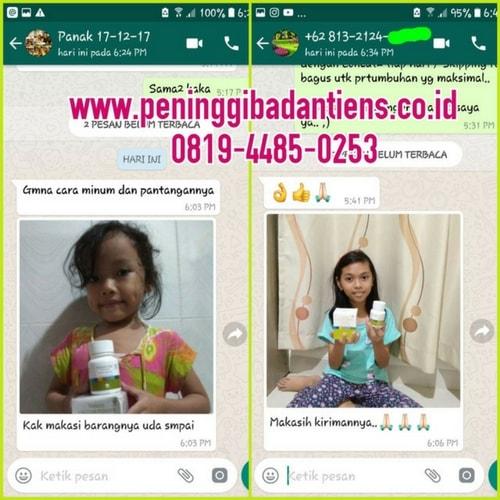 Peninggi Badan Tiens Untuk Anak Usia 2-11 Tahun