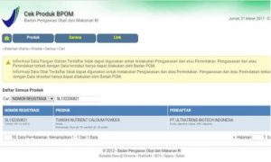 BPOM untuk susu NHCP dewasa