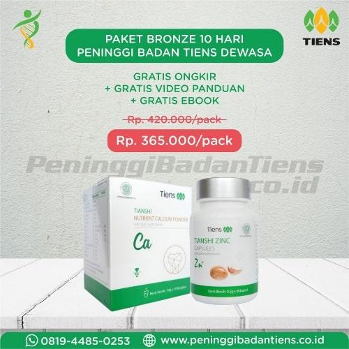 Paket Bronze Obat Peninggi Badan Tiens Dewasa