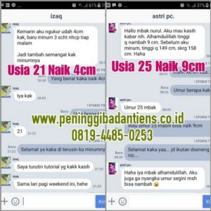 Testimoni peninggi badan super grow up hijau vs tiens
