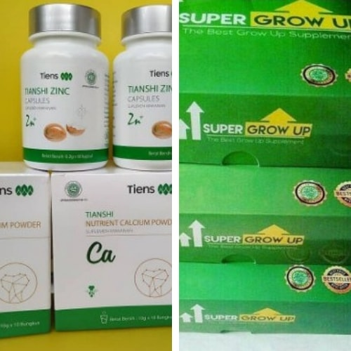 peninggi badan tiens atau super grow up